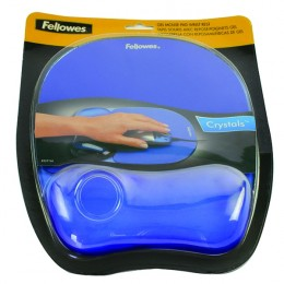 Fellowes Crystal Gel MousePad Blue