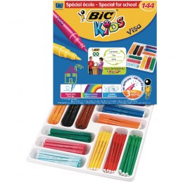 Bic Kids Visa Felt Tips Assorted Class Pack [Pack of 144]