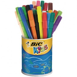 Bic Kids Visa Colouring Felt Tip Pens Fine Assorted [Pack of 36]