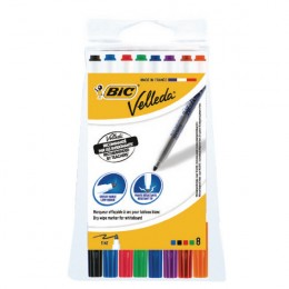 Bic Drywipe Markers Valleda 1721 Assorted [Pack of 8]