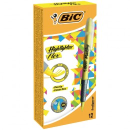Bic Flex Highlighters Yellow [Pack of 12]