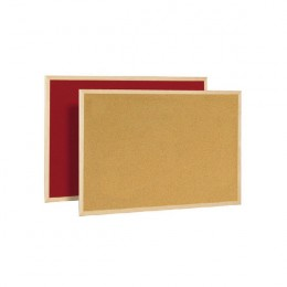 Bi-Office Memo Cork Board Red 900x600mm