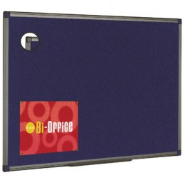 Bi-Office Blue Felt Board 600x450mm Aluminium
