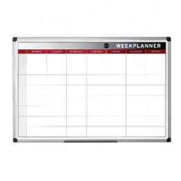 Bi-Office Magnetic Week Planner 900x600mm