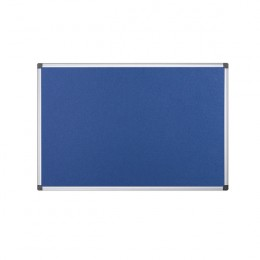 Bi-Office Flame Resistant Notice Board Blue 600x900mm