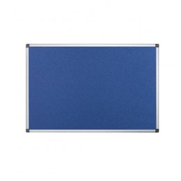 Bi-Office Flame Resistant Notice Board Blue 1200x900mm