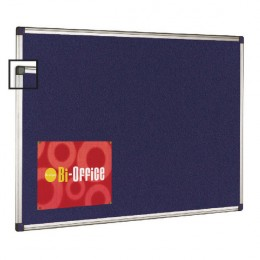 Bi-Office Felt Notice Board 1800x1200mm Aluminium Frame