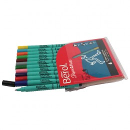 Berol Colour Fine Pens Assorted [Wallet of 12]