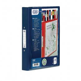 Elba 4-Ring Binder PVC A4 Blue