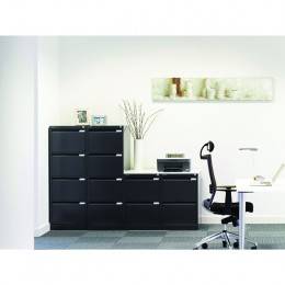 Bisley Filing Cabinet 2 Drawer Lock Grey Flush [Alternative Picture 1]