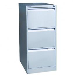 Bisley Filing Cabinet 3 Drawer Lockable Flush Grey