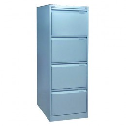 Bisley Filing Cabinet 4 Drawer Lockable Flush Grey [Alternative Picture 1]