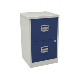 Bisley A4 Homefiler 2 Drawer Grey and Blue [Alternative Picture 1]