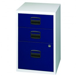 Bisley A4 Homefiler 3 Drawer Grey and Blue [Alternative Picture 1]