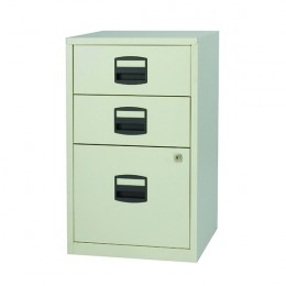 Bisley A4 Homefiler 3 Drawer Goose Grey [Alternative Picture 1]