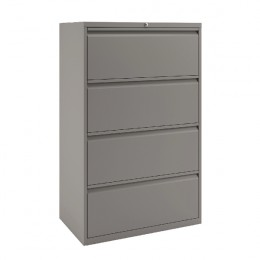 Bisley 4-Drawer Filing Unit Goose Grey