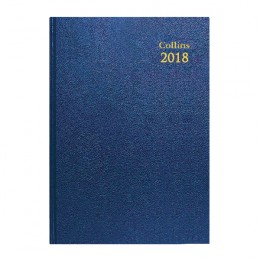 Collins A5 Desk Diary Week to View 2018 Blue