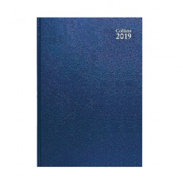Collins A4 Desk Diary Week to View 2019 Blue