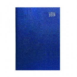 Collins A4 Desk Diary Day per Page 2019 Blue