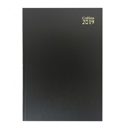 Collins A4 Diary Two Pages per Day Black 2019
