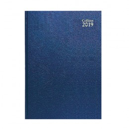 Collins A5 Desk Diary Day per Page 2019 Blue