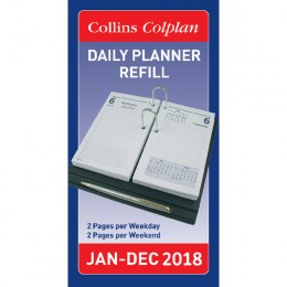 Collins Daily Desk Planner Refill 2018
