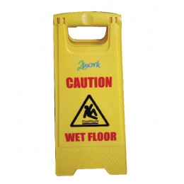 2Work Folding Safety Sign for Wet Floors