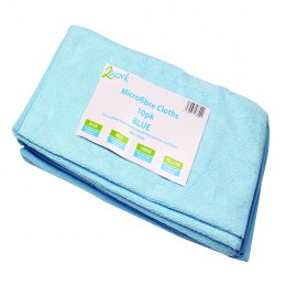 Contico Microfibre Cloth Blue 400x400mm [Pack of 10]