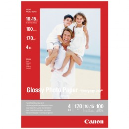 Canon Glossy Photo Paper 4x6 Inches [Pack of 100]