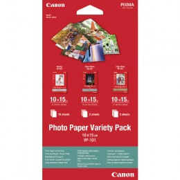 Canon VP101 100x150mm Photo Paper Variety Pack [Pack of 20]