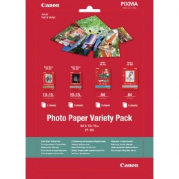 Canon VP101 A4 and 100x150mm Photo Paper Variety Pack [Pack of 20]