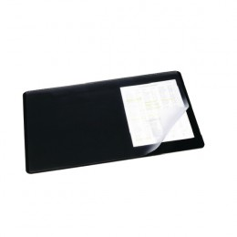 Durable Desk Mat 520x650mm Clear and Black