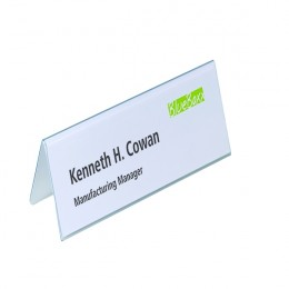 Durable Table Place Name Holder 61x210mm [Pack of 25]