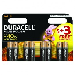 Duracell 1.5v AA Alkaline Battery [Pack of 8]