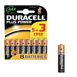 Duracell 1.5v AAA Alkaline Battery [Pack of 8]