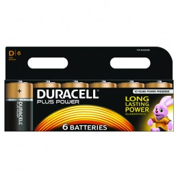 Duracell Plus Battery D [Pack of 6]
