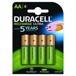 Duracell Stay Charged Premium AA Batteries [Pack of 4]
