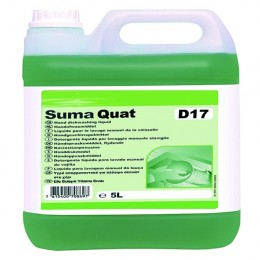 Diversey Suma Quad D17 Dishwashing Liquid 5 Litre [Pack of 2]