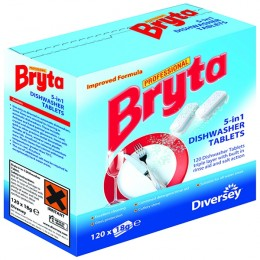 Bryta 5 in 1 Dishwasher Tablets [Pack of 4x120]