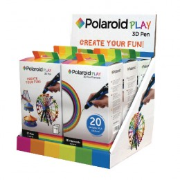 Polaroid Play 3D Pen and Filament Counter Display Unit