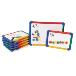 Show-me A4 Rainbow Framed Magnetic Whiteboard [Pack of 10]