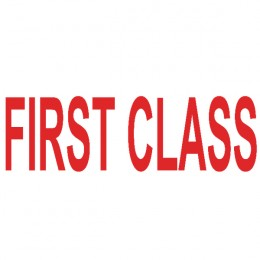 Colop Green Line Word Stamp FIRST CLASS Red
