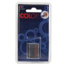 Colop E/10/2 Replacement Ink Pads Blue and Red [Pack of 2]