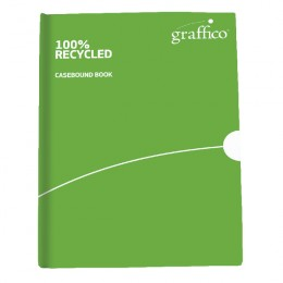Graffico Recycled Casebound A4 Notebook Feint Ruled 160 Pages
