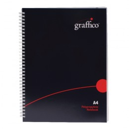 Graffico Twin Wire Polypropylene A4 Notebook 140 Pages