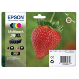 Epson 29XL Black /Cyan/Magenta/Yellow High Yield Inkjet [Pack of 4] C13T29964010 / T2996