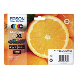 Epson Multipack 33XL Non-Tagged Ink Cartridges CMYKPhK [Pack of 5]
