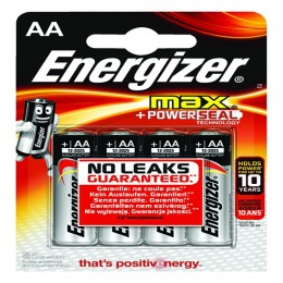 Energizer Max E92 AA Batteries [Pack of 4]