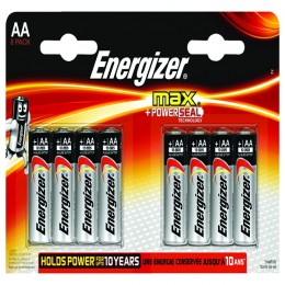 Energizer Max E92 AA Batteries [Pack of 8]