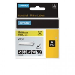 Dymo 18432 12mm Yellow Vinyl Tape - S0718450